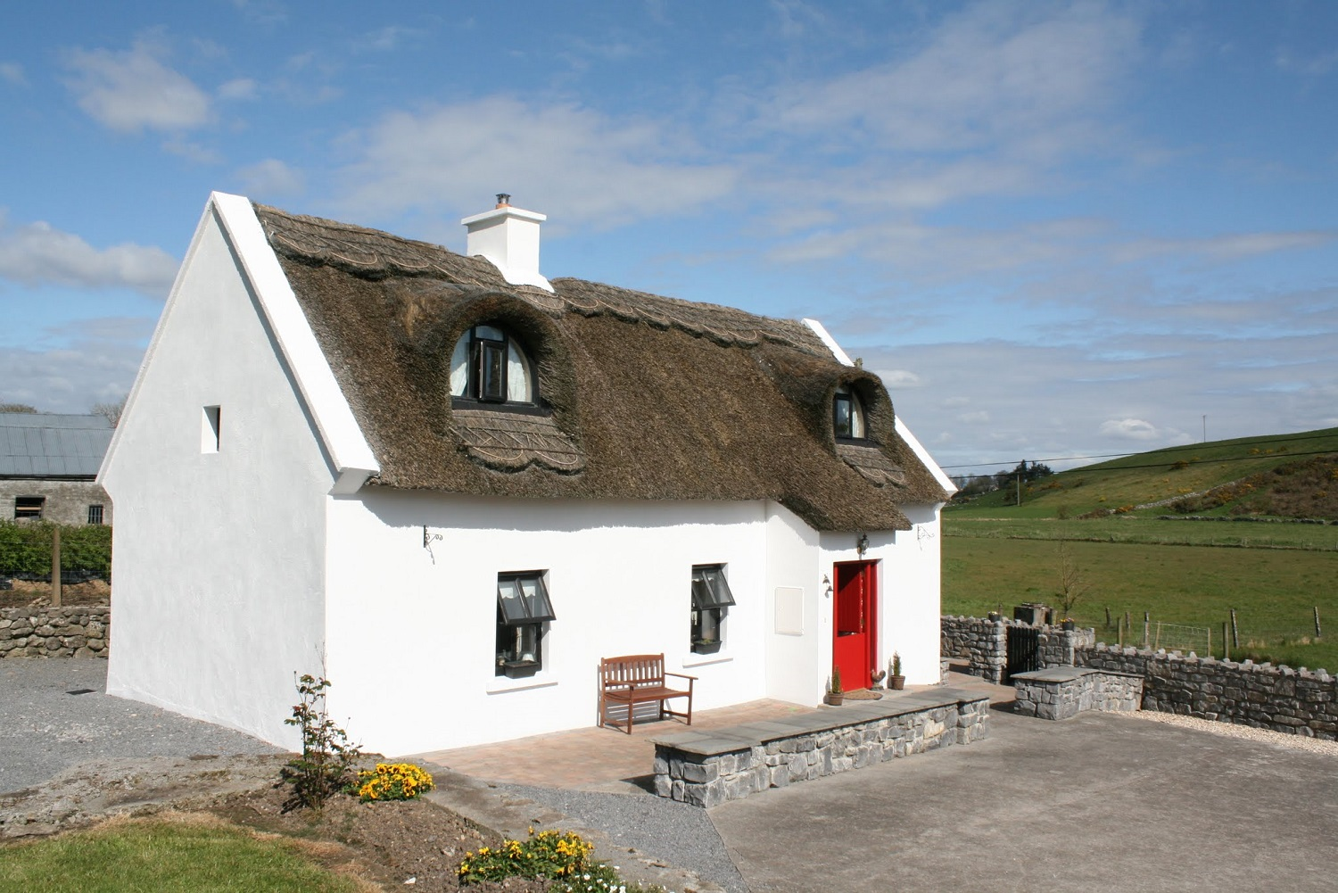 thatch cottage front